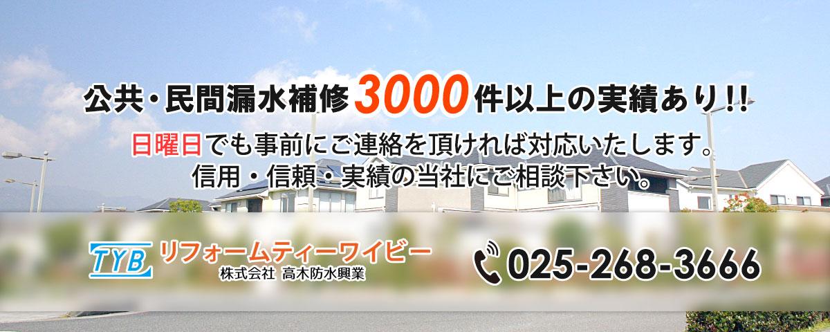 公共・民間漏水補修3000件以上の実績あり!!