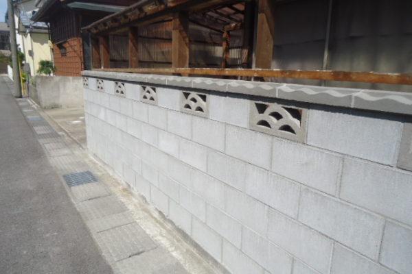 ブロック塀補修工事