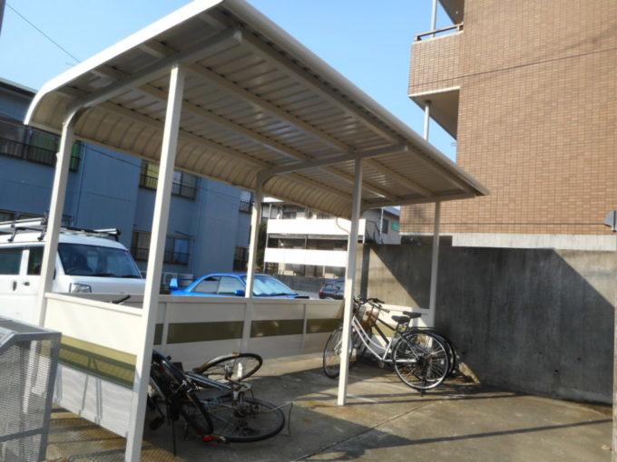 新潟市西区 駐輪場塗装工事