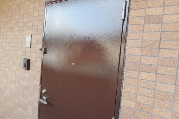 新潟市西区 玄関扉塗装工事