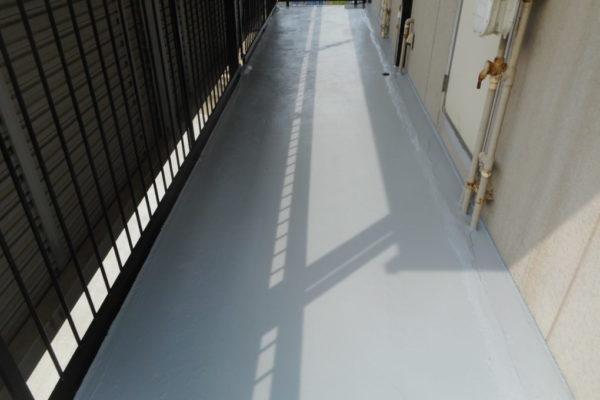 新潟市西区 廊下床防水工事