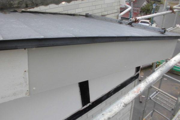 新潟市西区 一部破風板補修工事
