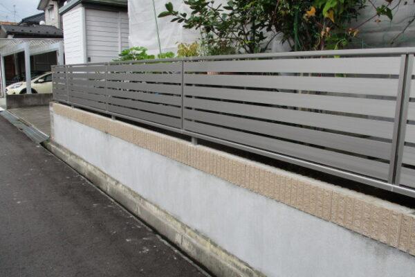 新潟市西区 フェンス取付工事